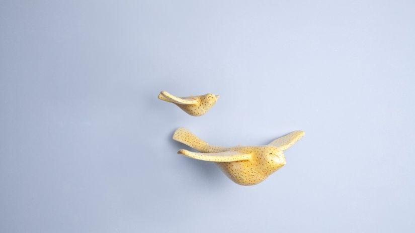 Décoration murale en métal doré