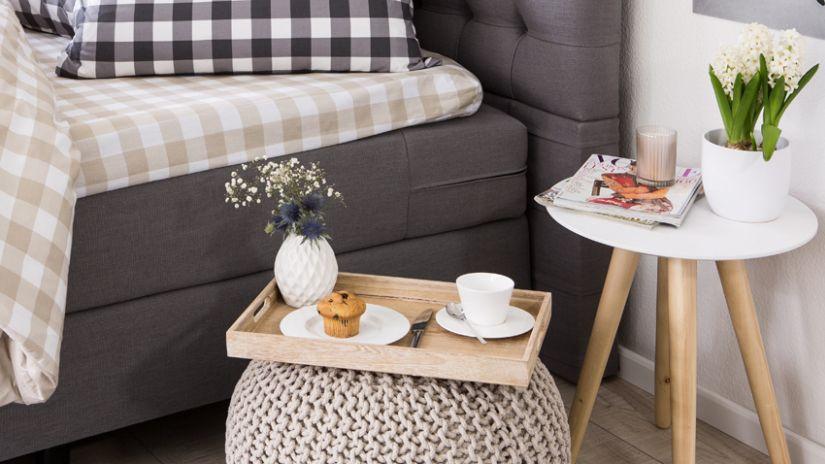 Table de chevet de style scandinave