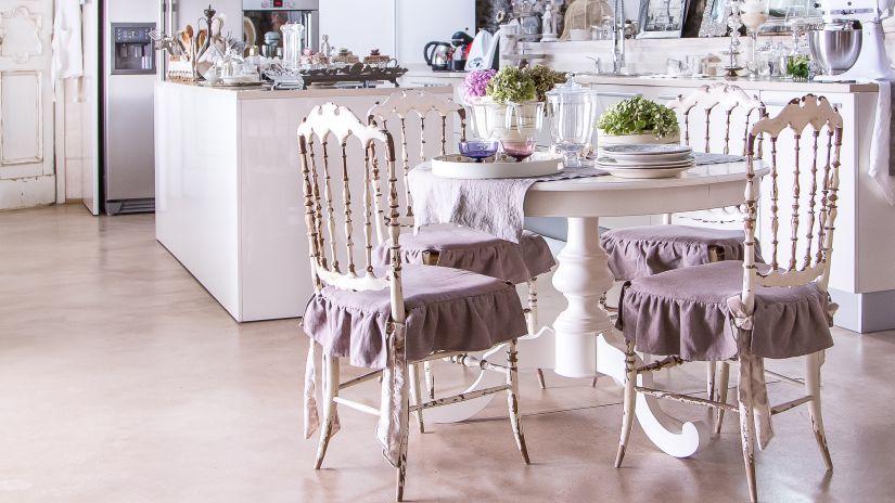 chaise de cuisine de style rustique chic