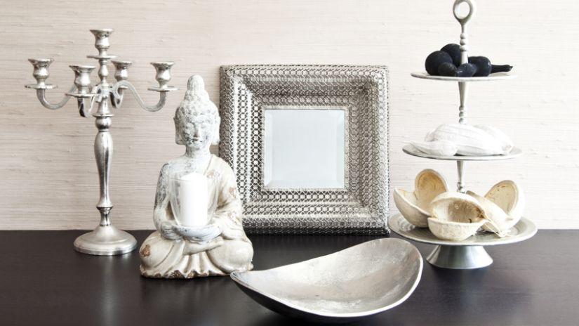 Miroir carré argenté