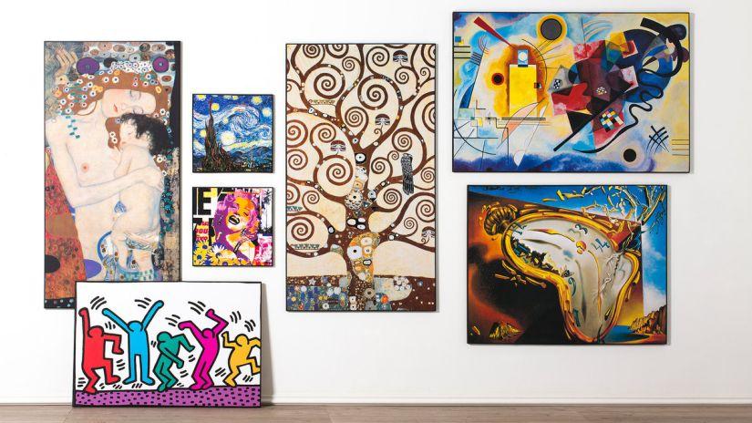 peintures sur toile, huiles et oeuvres d'art suspendues