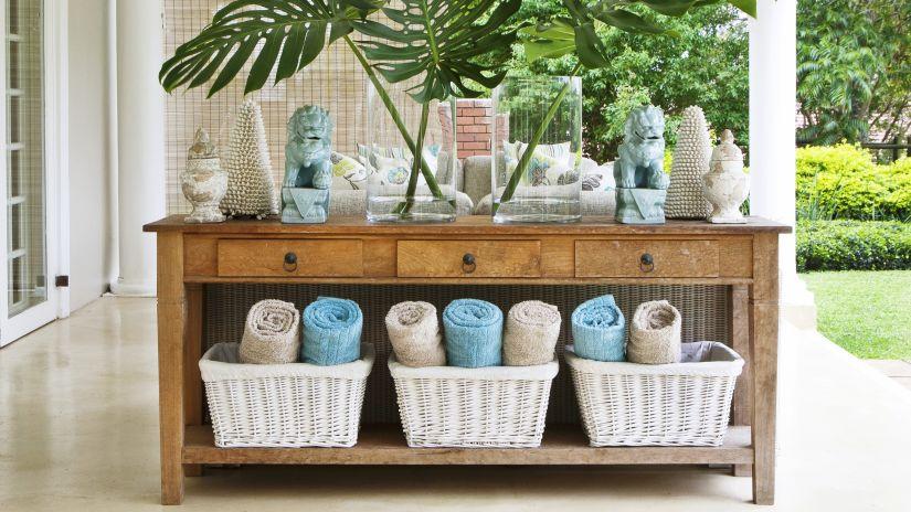 Armoire de jardin en bois 3 tiroirs