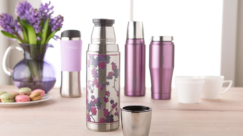 bouteille isotherme, bouteille inox, thermos violet, accessoires