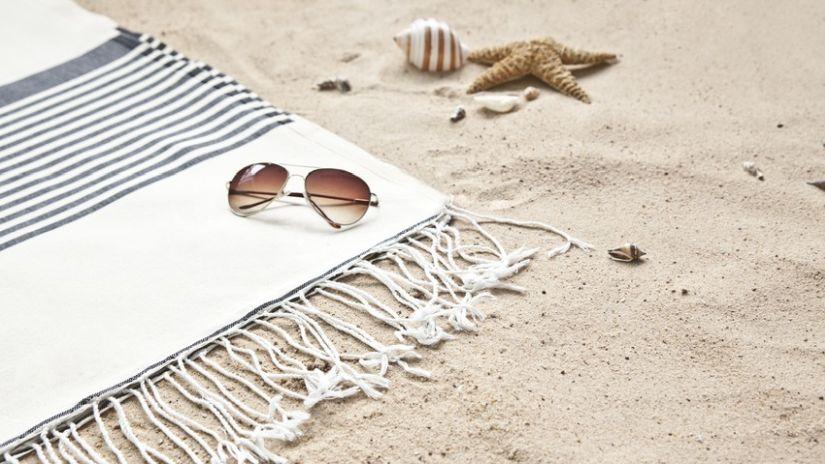 Drap de plage style marin