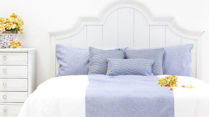 Draps de lit bicolores