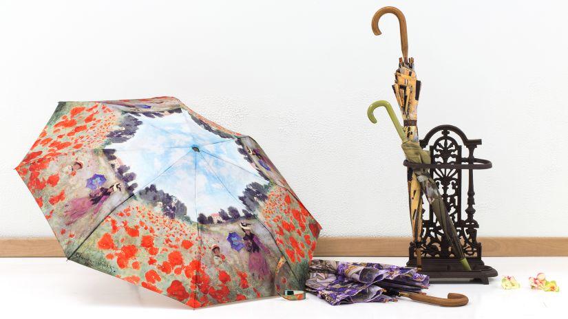 Porte-parapluies en fer forgé marron