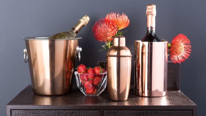 Shaker à cocktail en cuivre