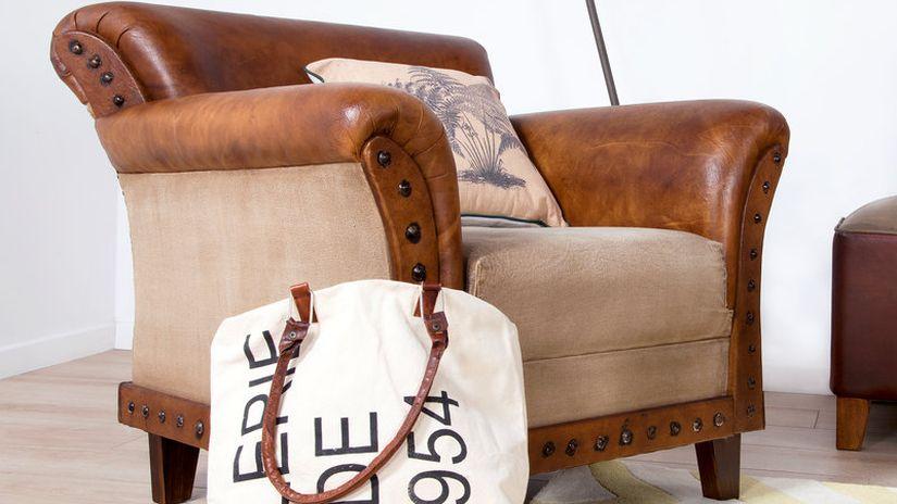 fauteuil en cuir de style industriel