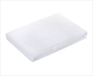 Drap housse blanc en coton