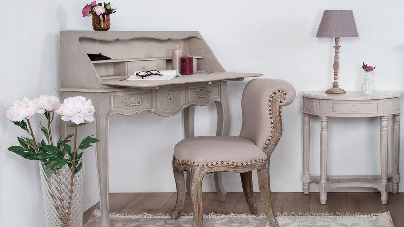 bureau secrétaire, secrétaire en bois, style classique