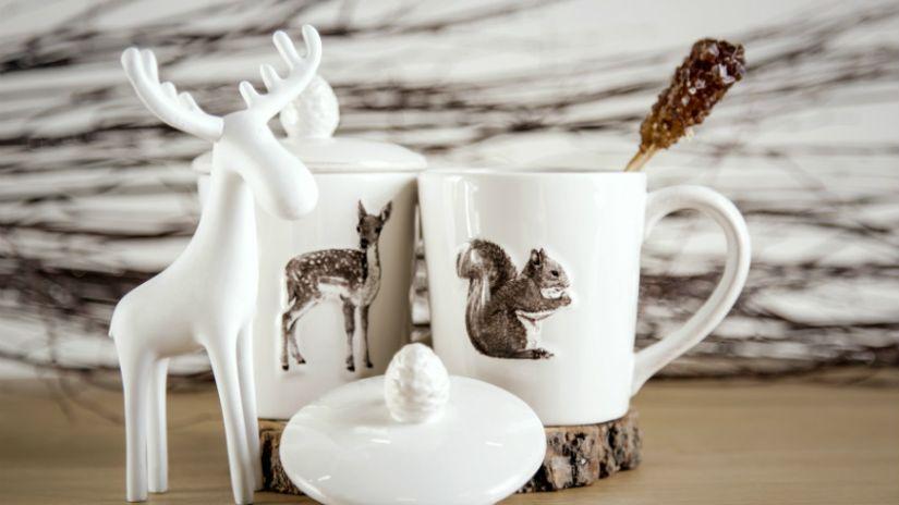 Mug à thé en porcelaine