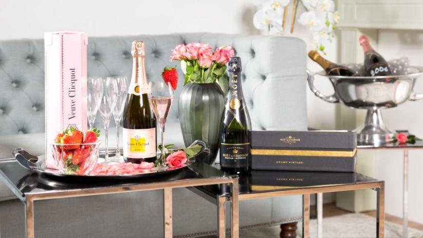 Grand seau à champagne en métal argenté