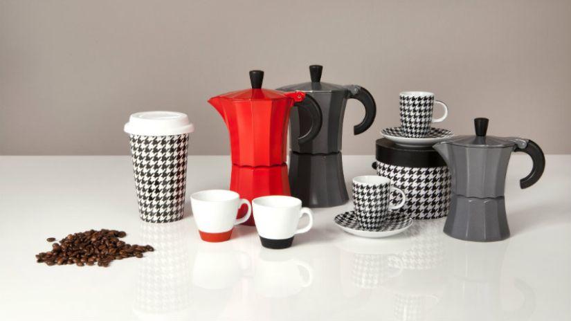 Service à café desig noir et blanc