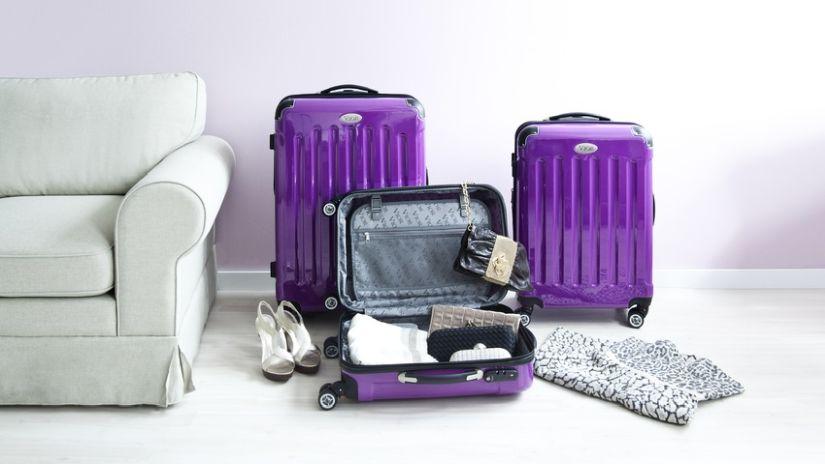 Petite valise violette