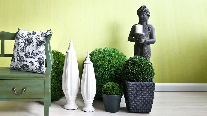 sculpture extérieure, statue d'extérieur, banc de jardin, vases