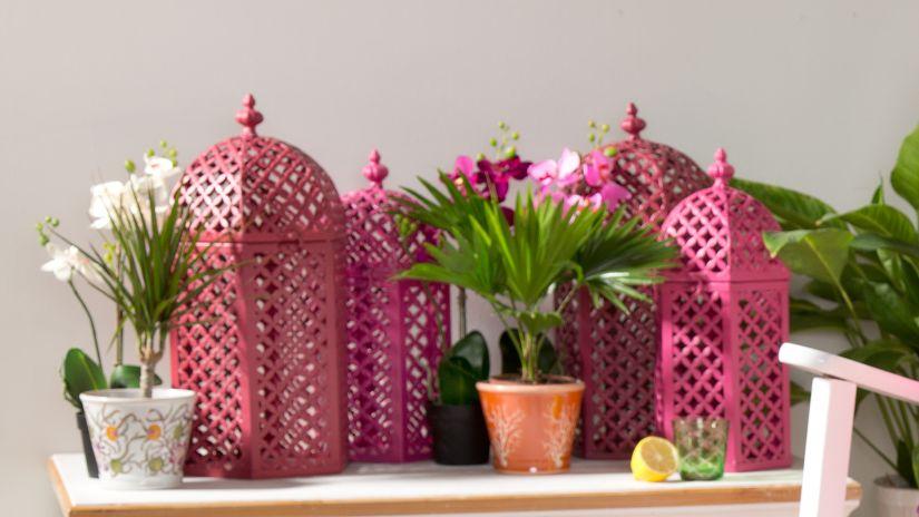 Grandes cages décoratives en bois
