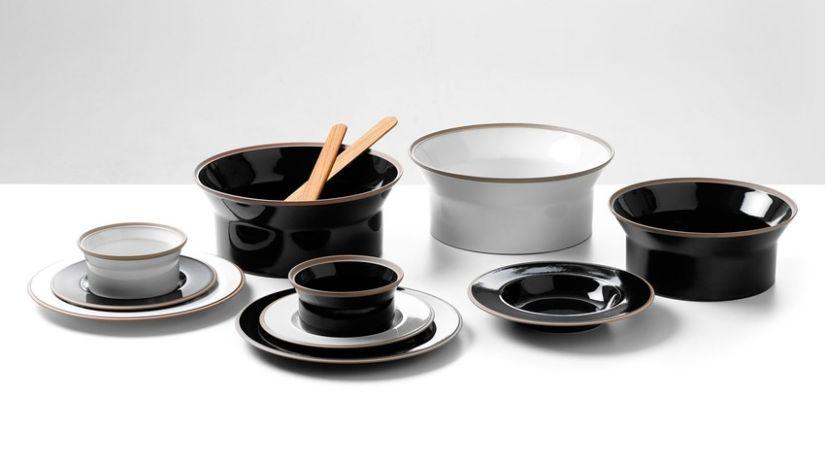 Mortier blanc et noir design