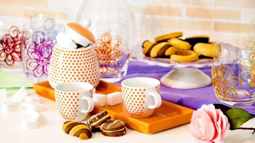 Sucrier orange en céramique