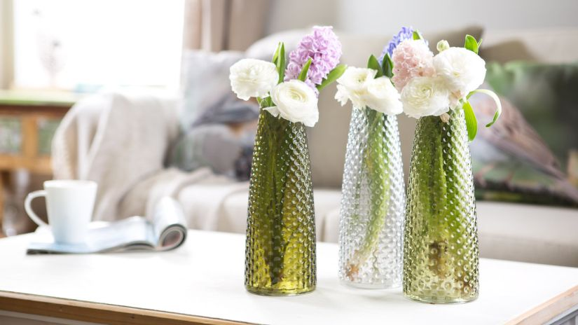 Vases hauts en verre