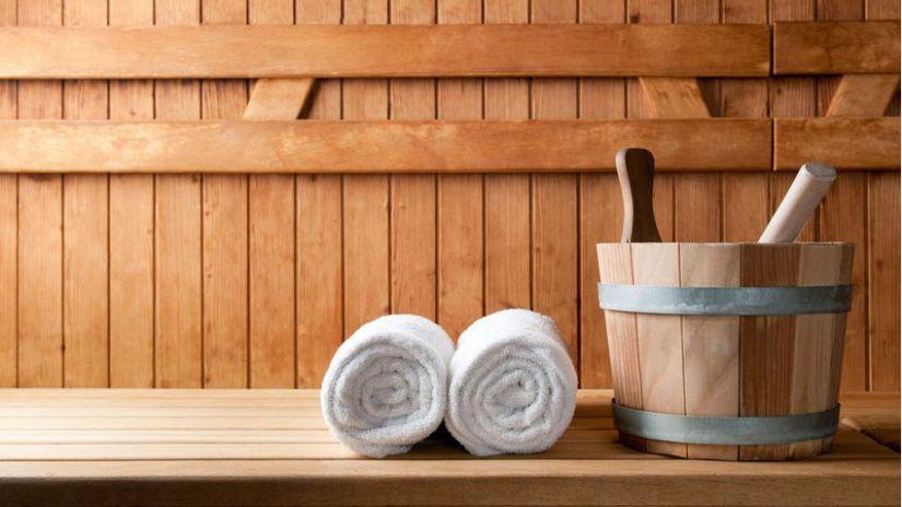 Band de salle de bain en bois naturel