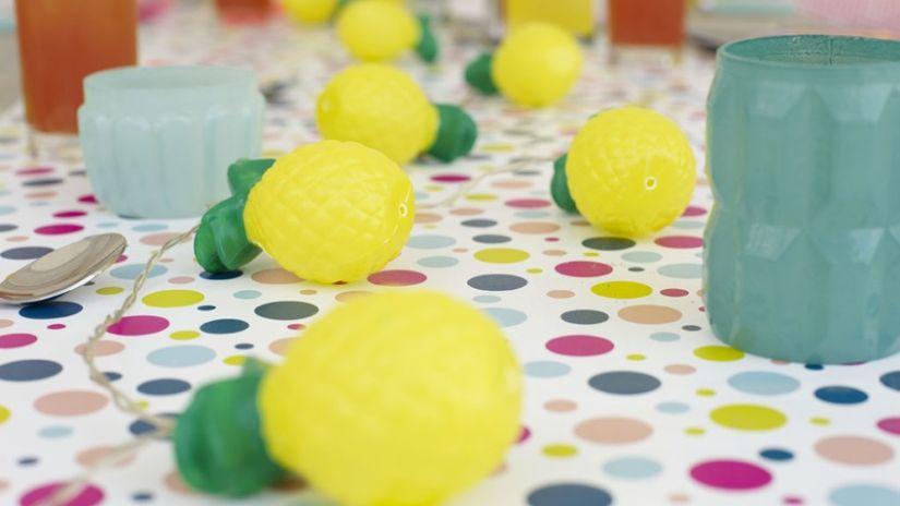 Guirlande décorative originale en forme de citron