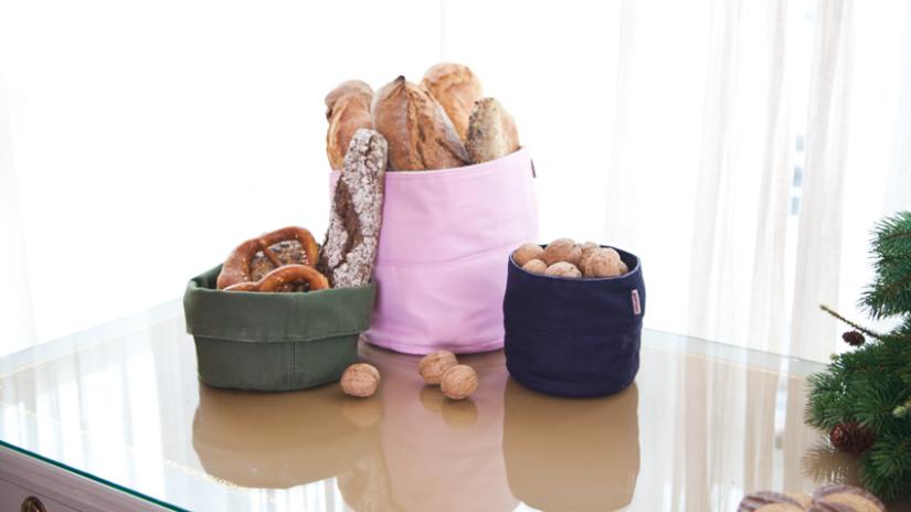 Sacs à pain en tissu colorés