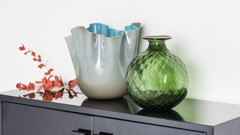 Vase rond vert