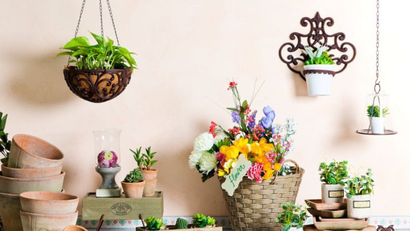 Porte plante une touche fleurie dans la maison westwing for Plante suspension exterieur