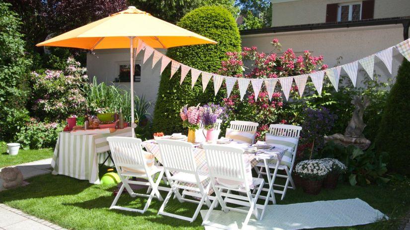 salon de jardin, ensemble de jardin, salon extérieur, parasol
