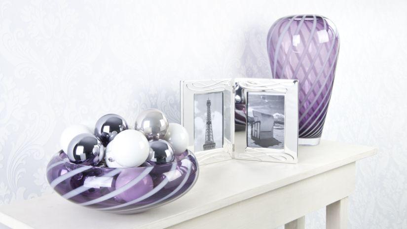 Vase violet en verre