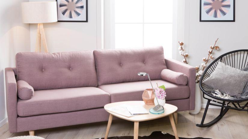 Canapé violet vintage