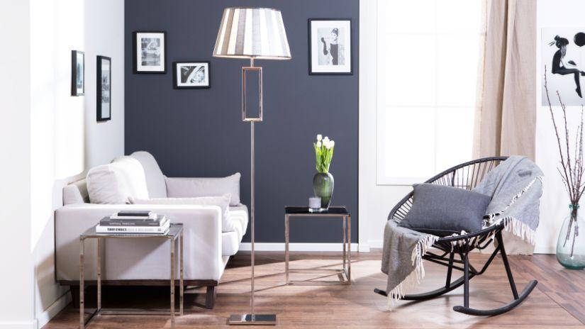 Chaise à bascule acapulco de couleur grise