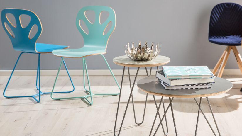 Chaises turquoise design