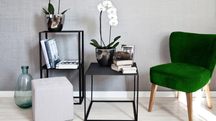 chaise capitonne en velours vert - Chaise Verte