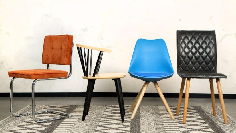 Chaises design de couleur
