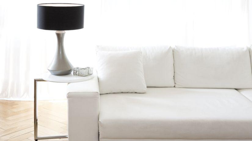 Coussin blanc carré