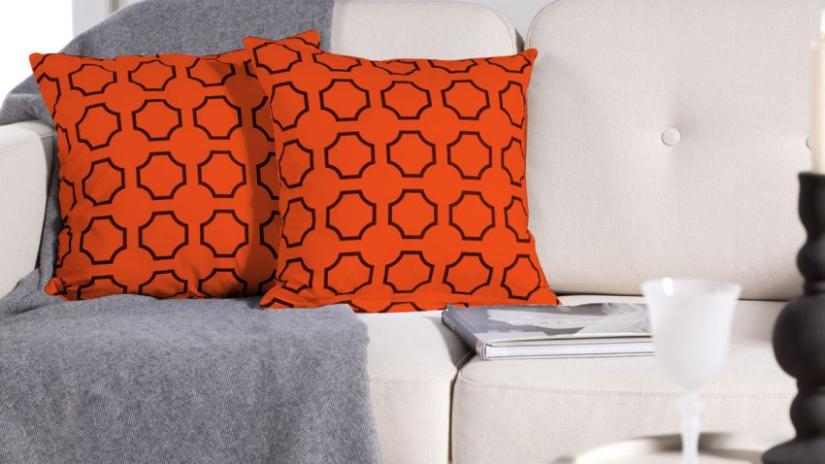Csoussins carrés de couleur orange