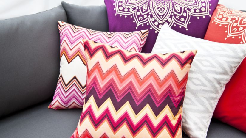 coussin deco mauve. Black Bedroom Furniture Sets. Home Design Ideas