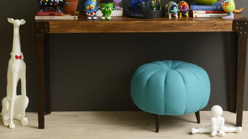 Tabouret turquoise design pour enfant