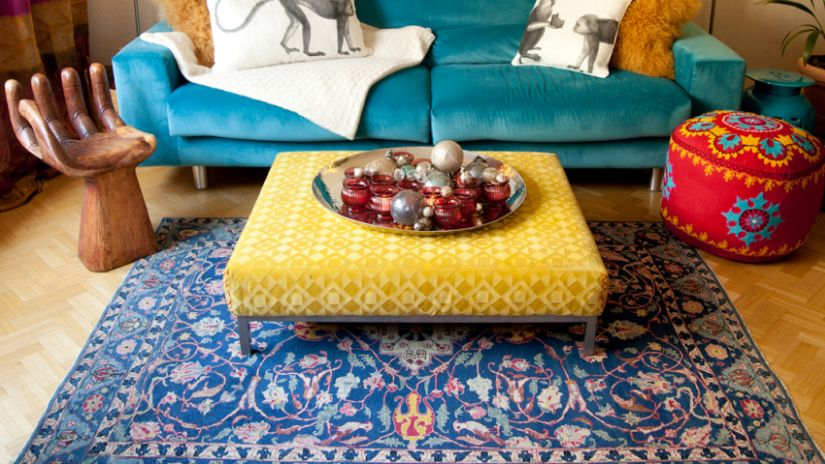 Tapis bleu marine | WESTWING décoration