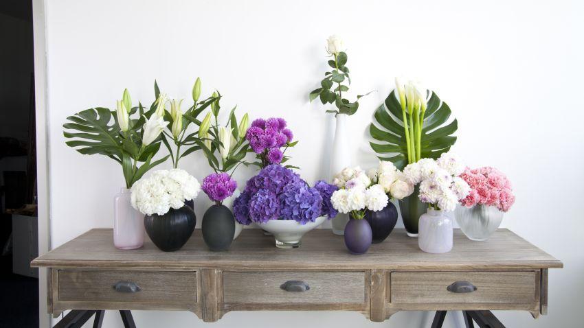Vase noir en verre