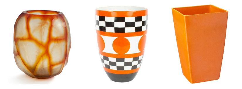 Vases originaux de couleur orange