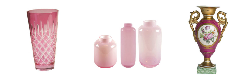 vases roses westwing de différents styles