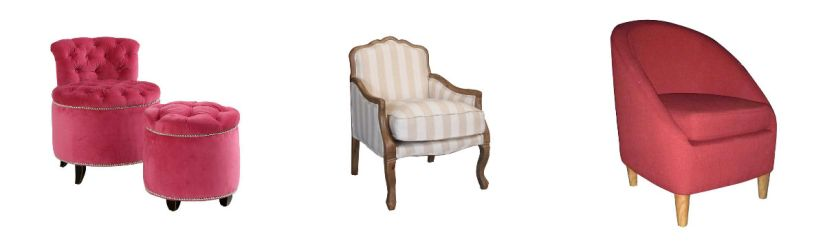 Fauteuils roses westwing