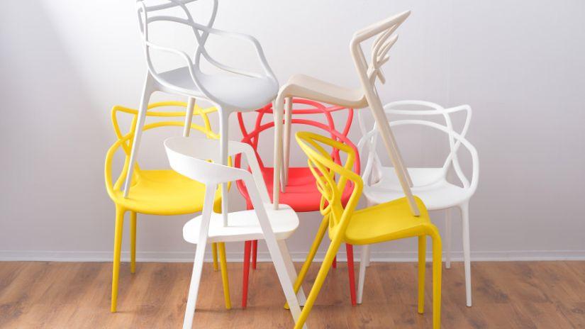 Chaises jaunes design