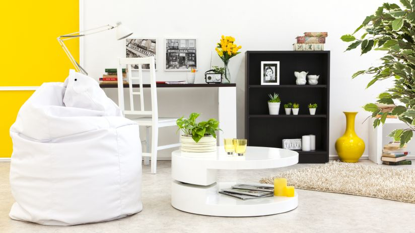 pouf blanc westwing ventes priv es d co. Black Bedroom Furniture Sets. Home Design Ideas