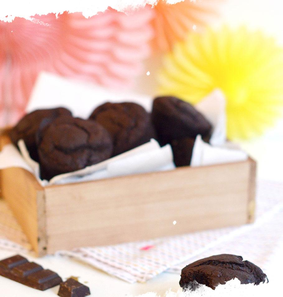 muffins vegan et sans gluten au chocolat de marie, recette vegan