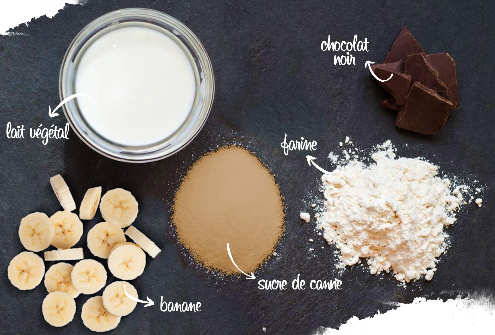 recette vegan, ingrédients, muffins vegan et sans gluten au chocolat de marie