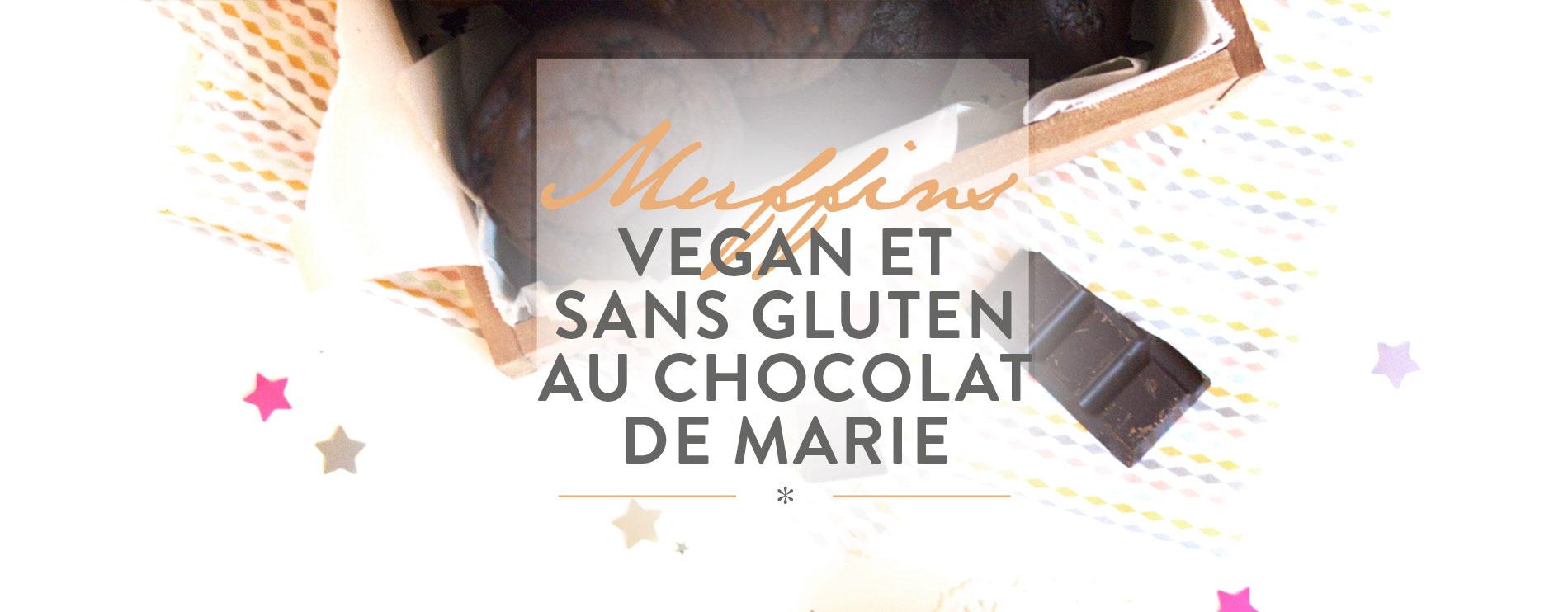 recette vegan, muffins vegan et sans gluten au chocolat de marie, muffins vegans