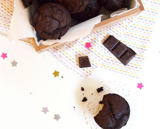 Muffins vegan et sans gluten au chocolat de Marie